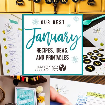 Our best January Recipes, Ideas, and Printables NEW ebook will help make your 2017 a little more organized and FUN!