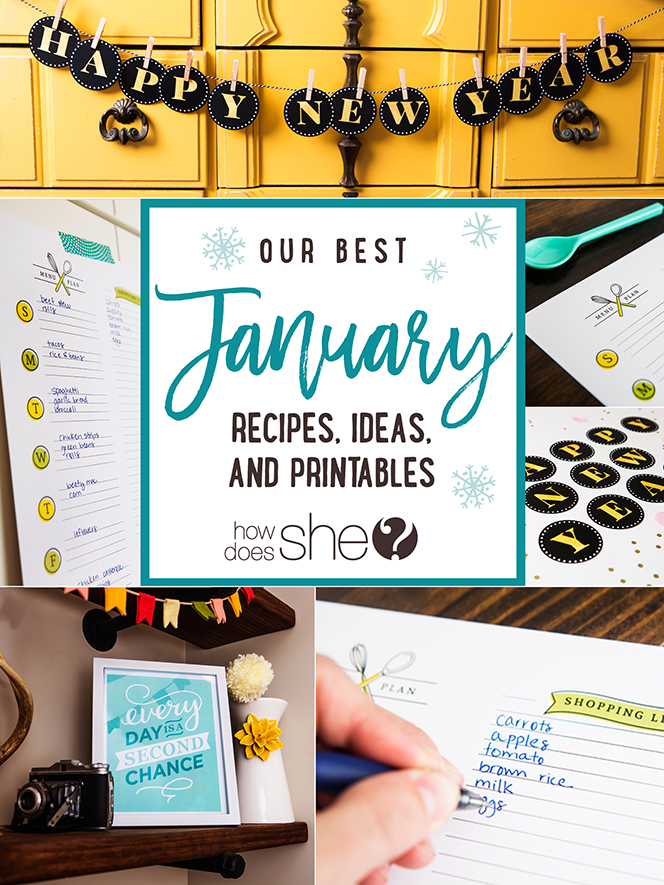 Our best January Recipes, Ideas, and Printables