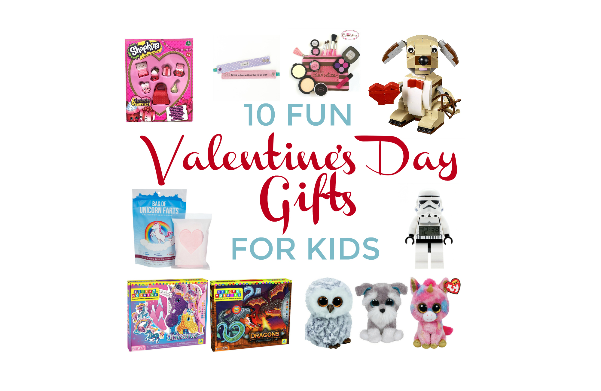 Valentine's Day gifts for kids collage