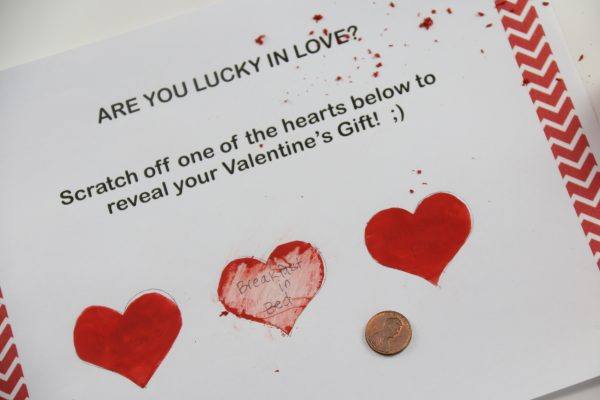 Scratch off Valentine's Card