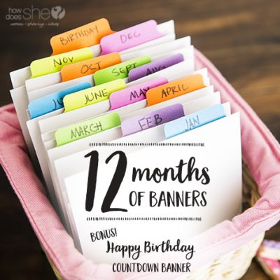 Be ready to celebrate every holiday this year with our *NEW RELEASE* 12 Months of Banners!