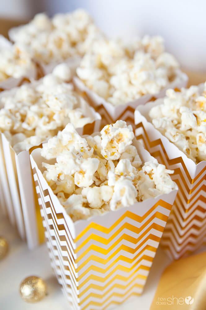 Cheesy Glam Popcorn Recipe {Perfect for Oscar Night!}