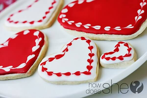 things to do on Valentine's Day image of heart shaped cookies