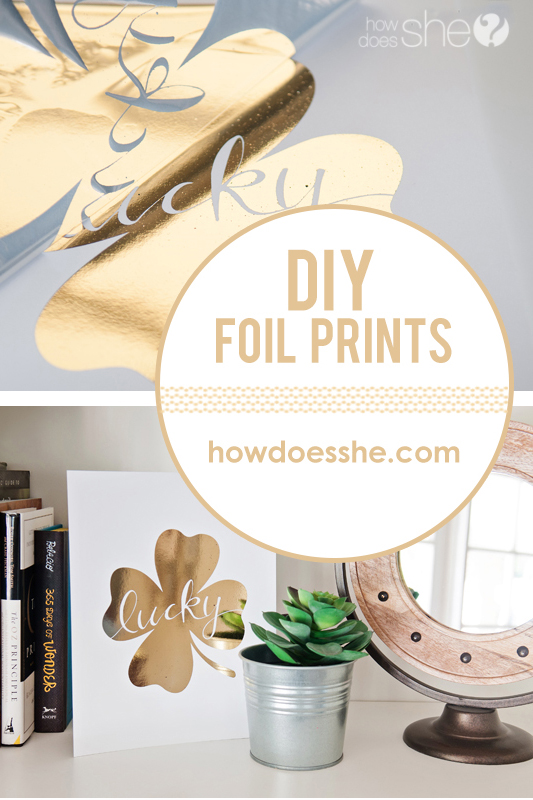 Easy DIY Gold Foil Prints