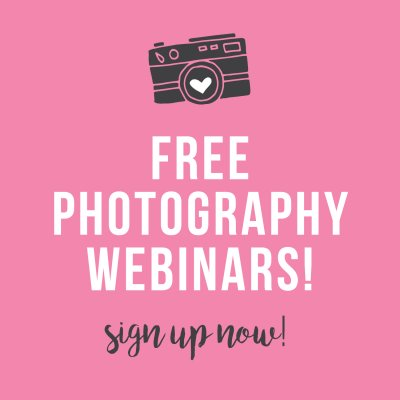 FREE Photography Webinars!