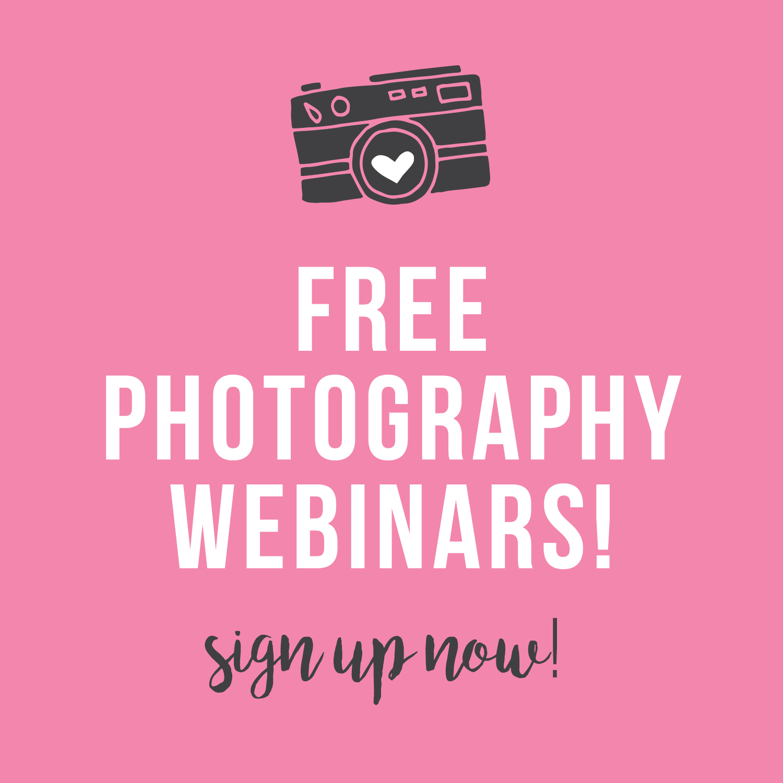 FREE Photography Webinars!