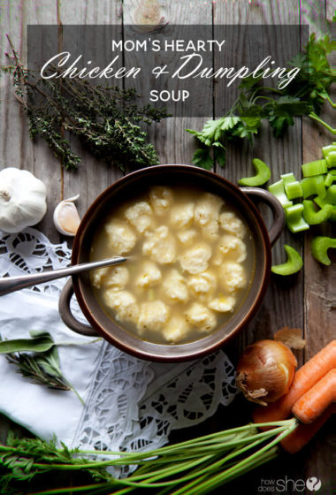 Mom's Hearty Chicken and Dumpling Soup