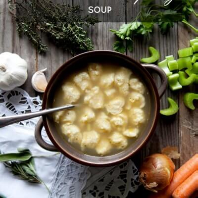 Mom's Hearty Chicken and Dumpling Soup + A SWEET GIVEAWAY!