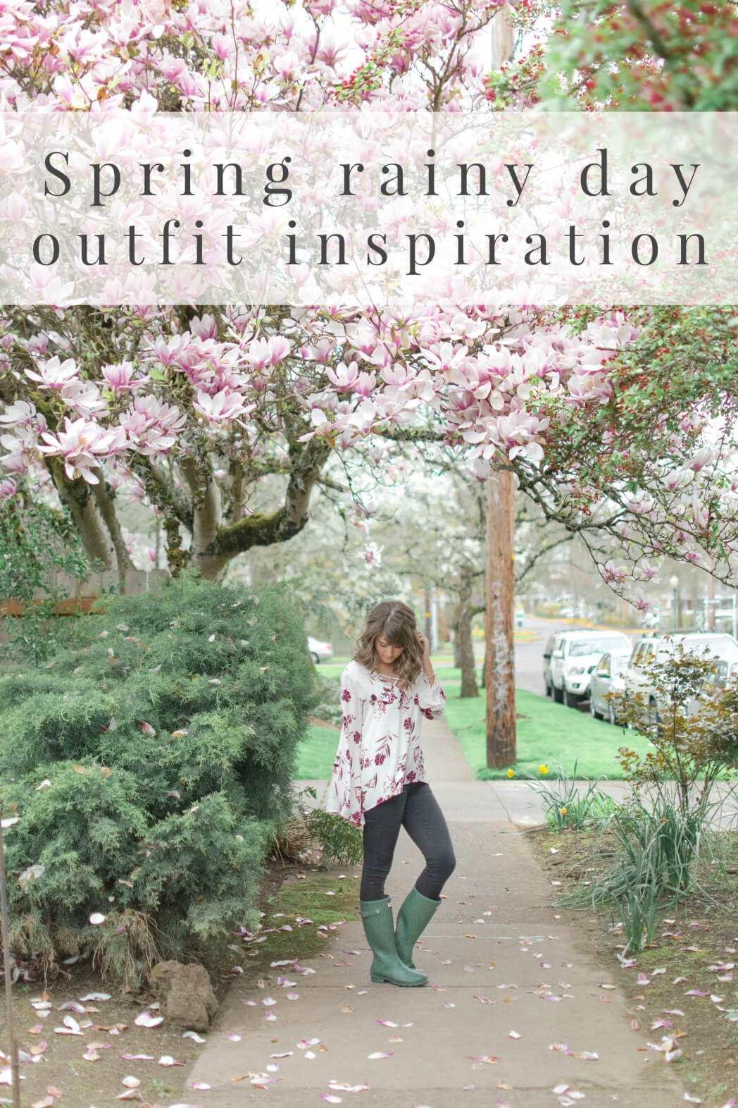 Rainy Day outfit inspiration for spring
