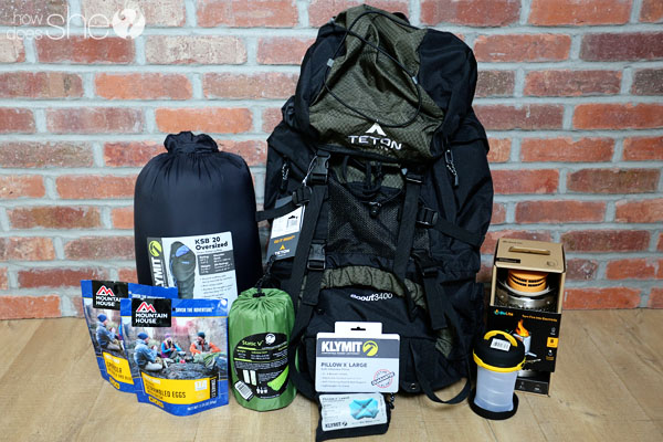 backpack and other gear for Havasupai Falls hike