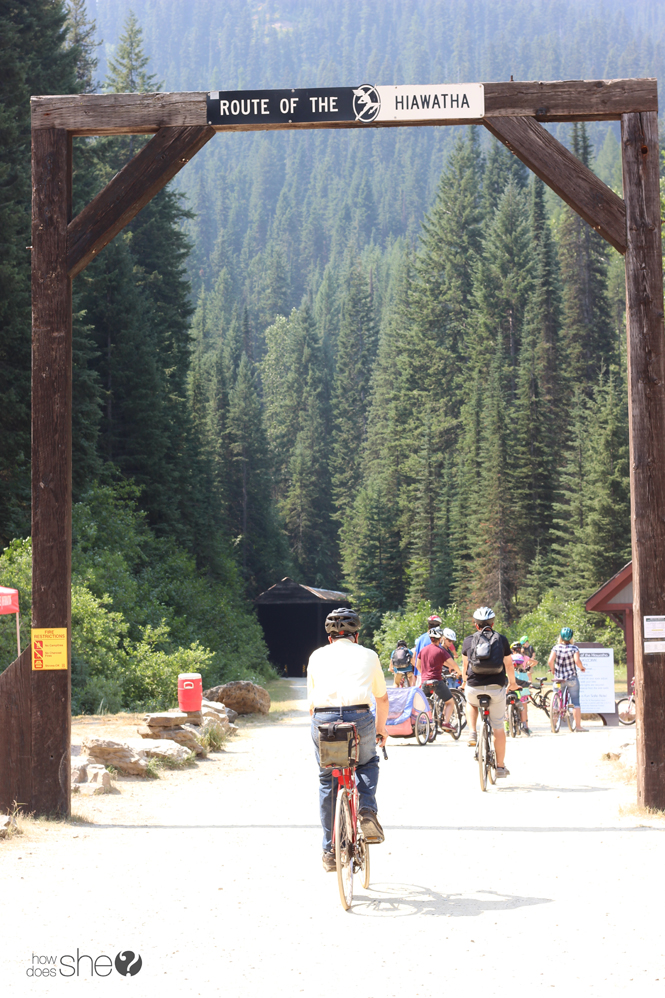 biking the Hiawatha trail in Coeur d'Alene Idaho