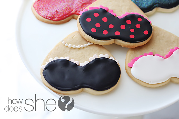 cookies shaped like bras