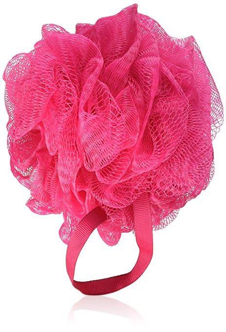 pink loofa sponge