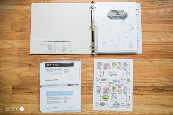 organize your recipes with this adorable diy recipe binder how