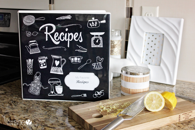 Organize Your Recipes with This Adorable DIY Recipe Binder | How