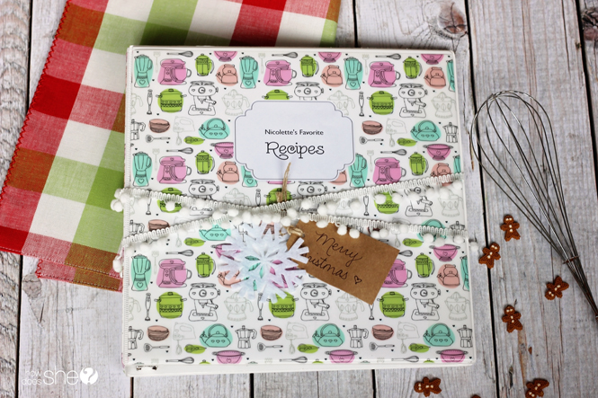 organize your recipes with this adorable diy recipe binder shell house