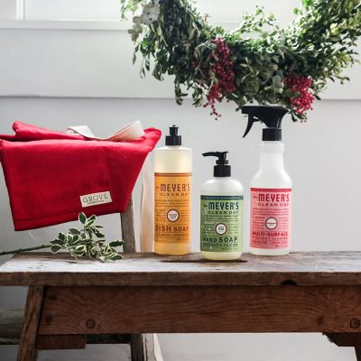 The Stress-Free Way to Clean House for a Party PLUS Get A Free Mrs. Meyers Holiday Kit