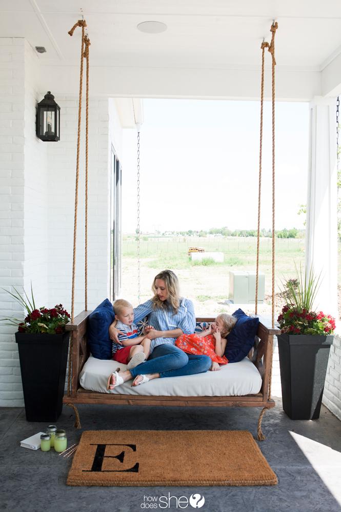 Beautiful DIY Farm-Inspired Porch Swing