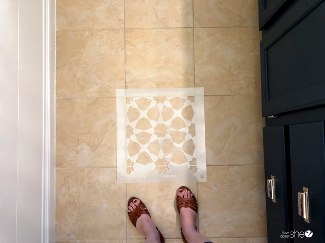 Learn How To Easily Stencil Floor Tiles!