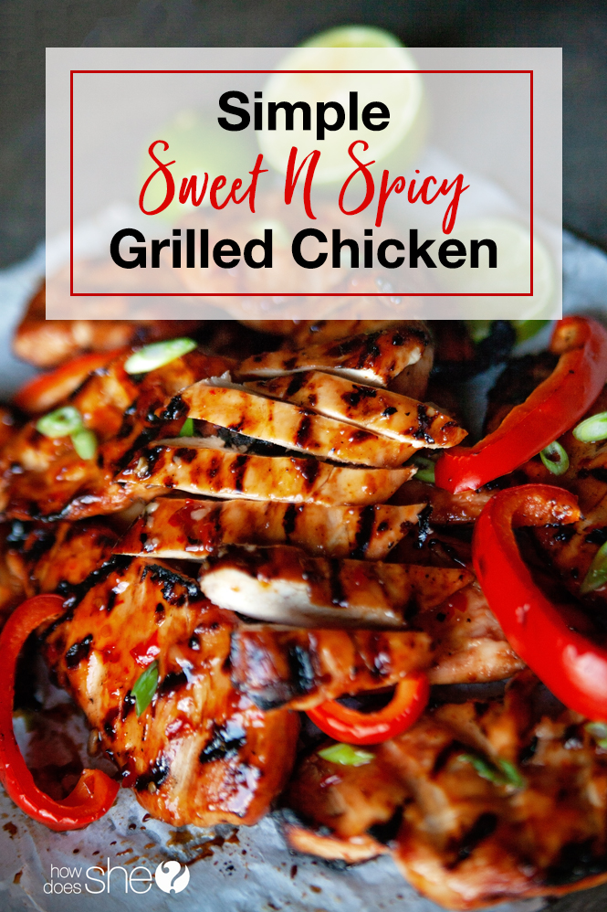 sweet n spicy grilled chicken