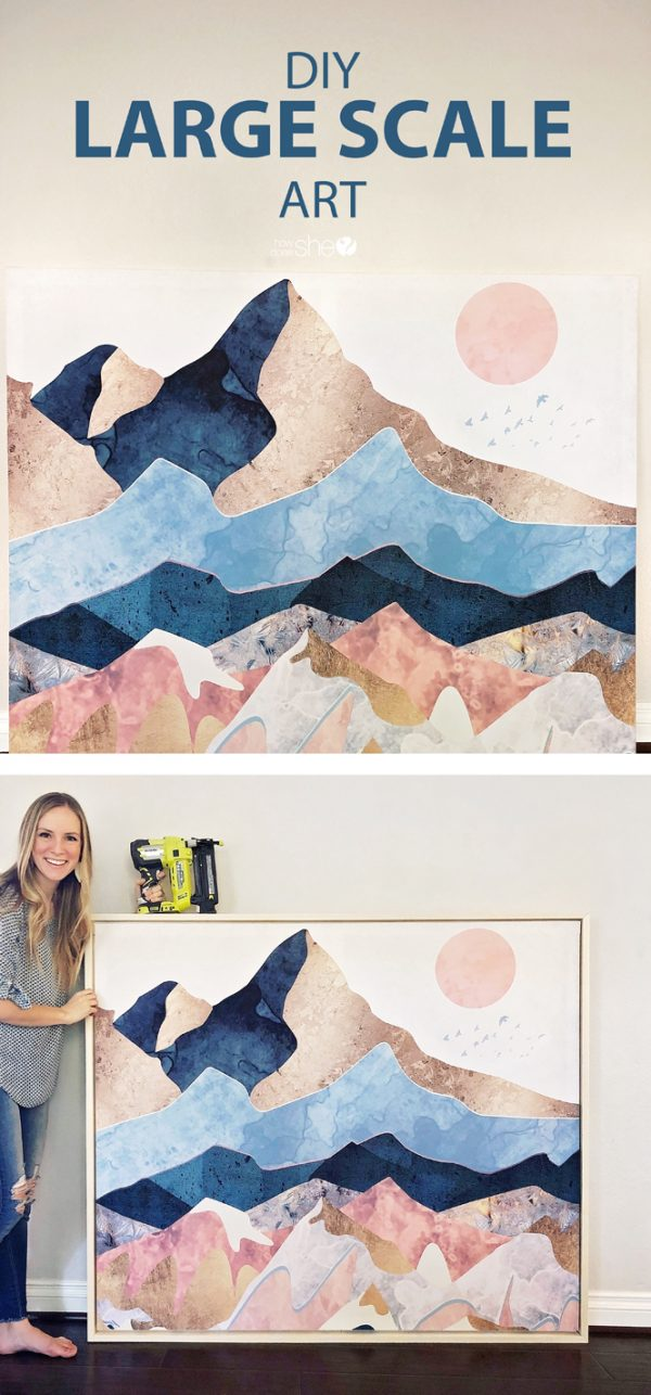 Diy Large Scale Art How Does She