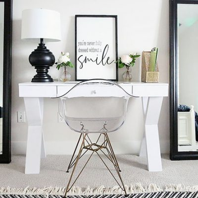 Creating A Glam Home Work Space on a Budget