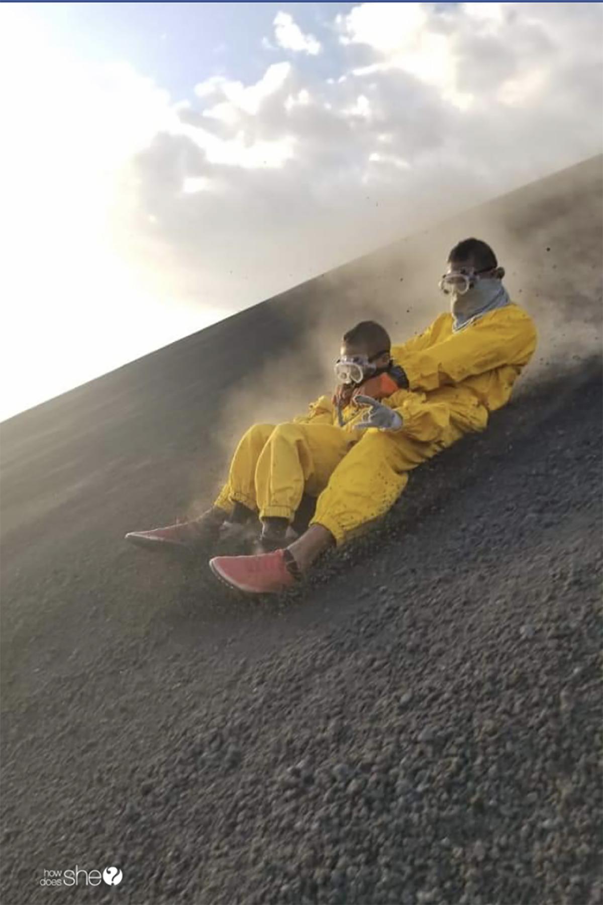 nicaragua volcano board kids