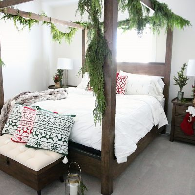Getting Ready for Guests: A Rustic Holiday Bedroom