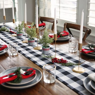 Welcoming Holiday Guests with a Rustic Tablescape from Walmart
