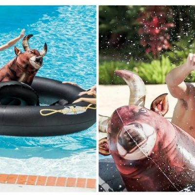 Grab your cowboy hat the Inflat-A-Bull floaty is here for Summer!