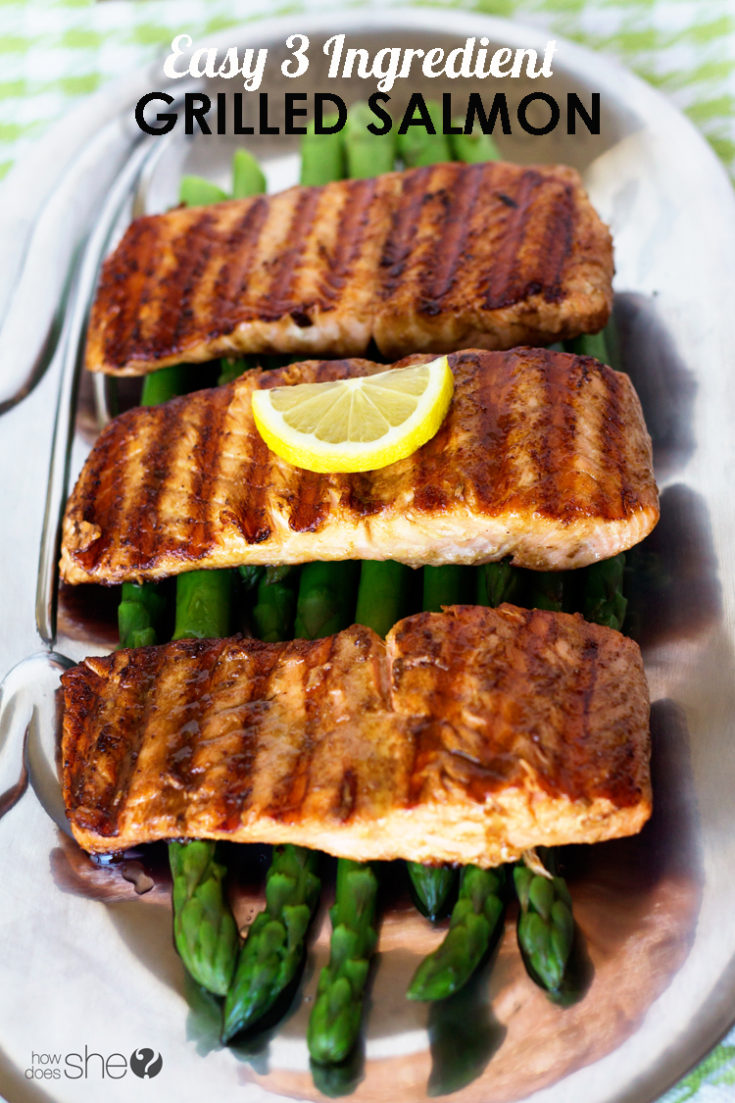 3 Ingredient Grilled Salmon