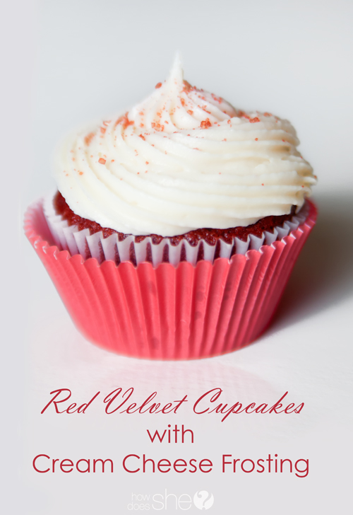 Red Velvet Cupcakes with the BEST Cream Cheese Frosting