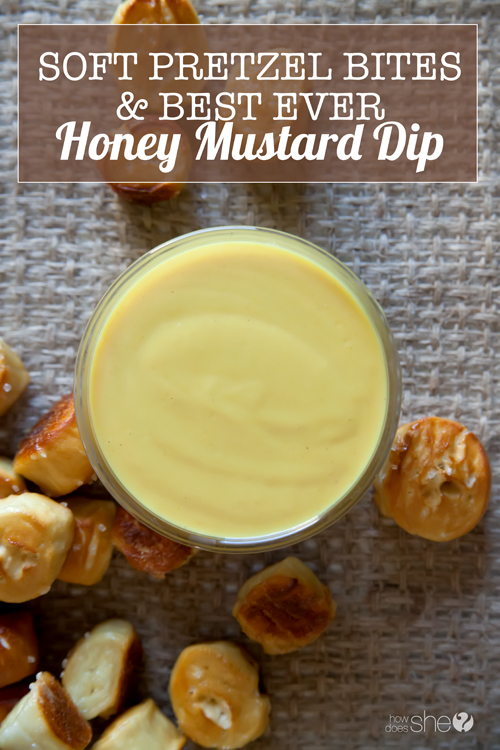 Soft Pretzel Bites with the BEST EVER Honey Mustard Dip