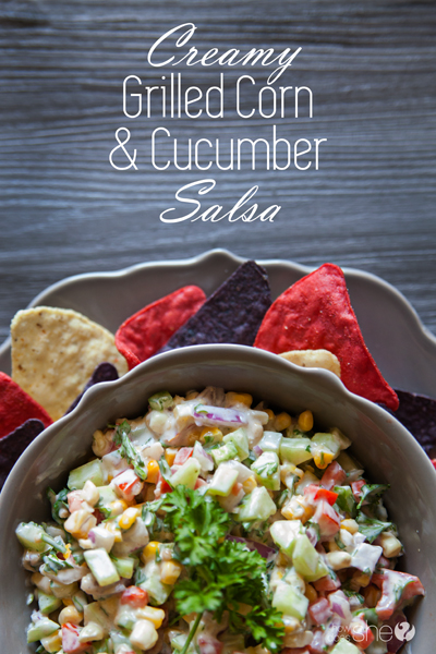 Fresh Grilled Corn and Cucumber Salsa