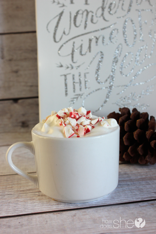 Peppermint White Hot Chocolate with Essential Oil