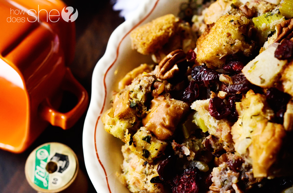 Cranberry Asian Pear Stuffing