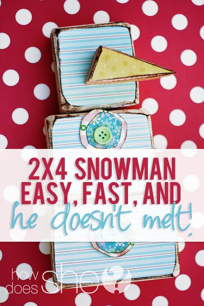 2x4 Snowman easy fast