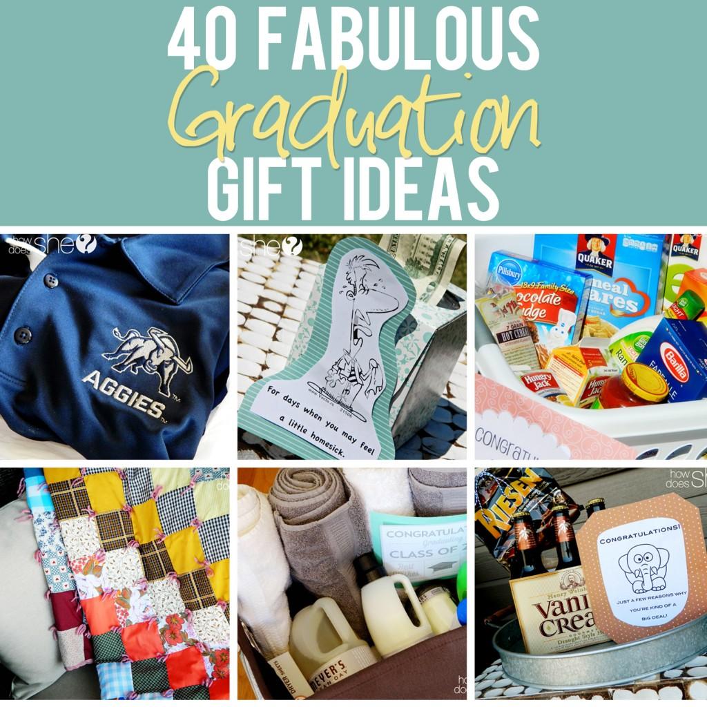 40 Graduation Gift Ideas - www.howdoesshe.com #graduationgiftideas
