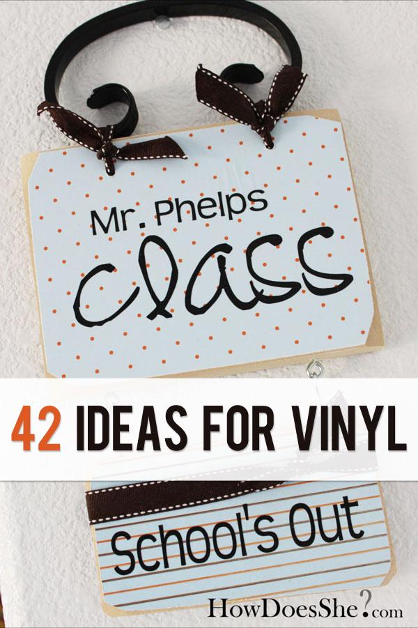 Vinyl Lettering Ideas