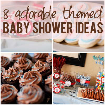 adorable themed baby shower ideas
