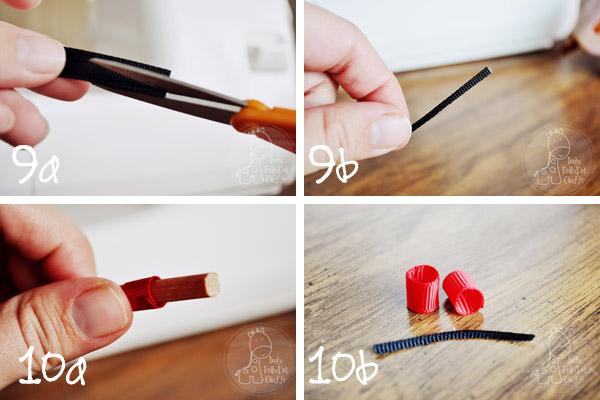 Ribbon Snowman Hair Clip tutorial