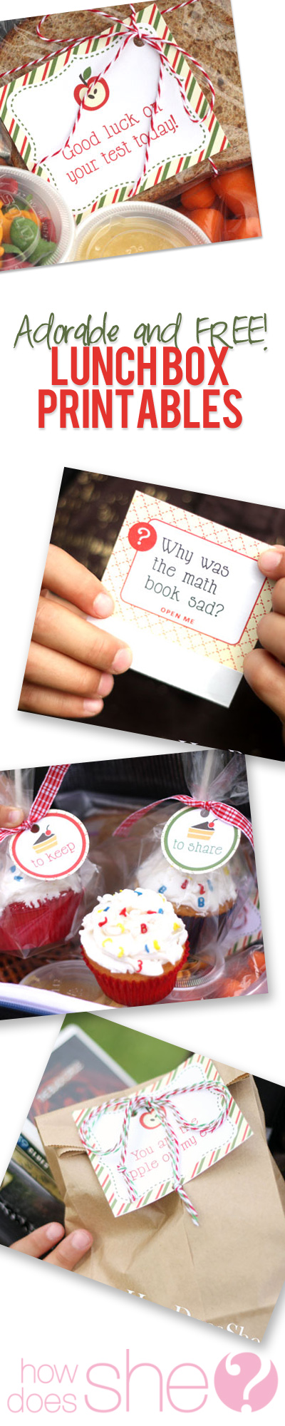 Adorable and free lunch box printables