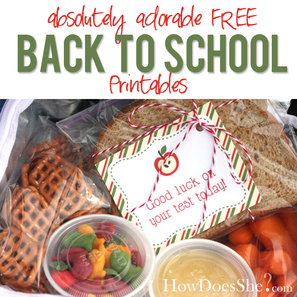 Adorable free back to school printables