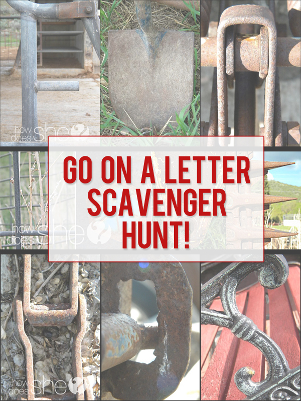 Alphabet Letters in Objects! Scavenger Hunt Turned into Letter Photo Art