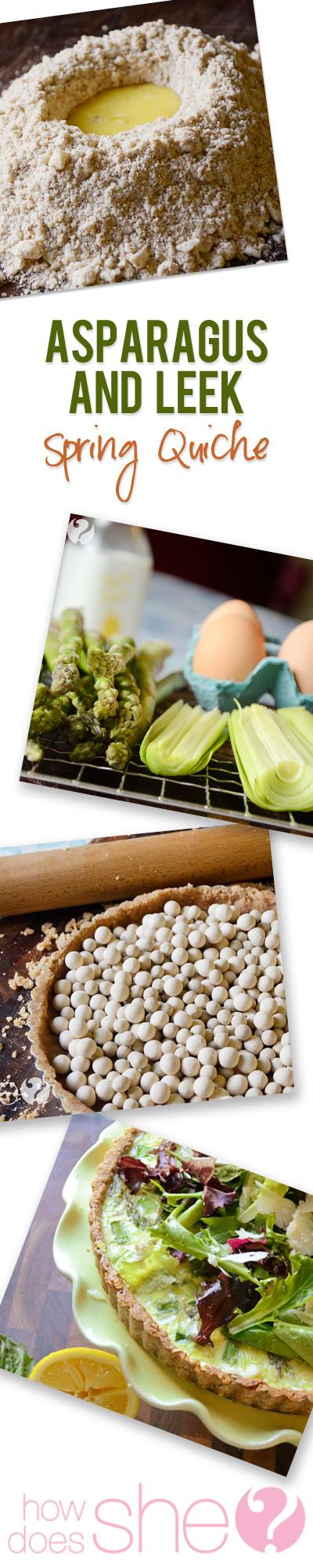 Asparagus and Leek Spring Quiche recipe
