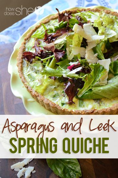 Asparagus and Leek Spring Quiche