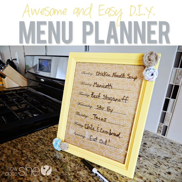 Awesome DIY Menu Planner