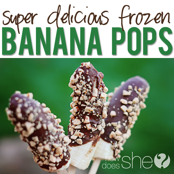 delicious and easy banana pops