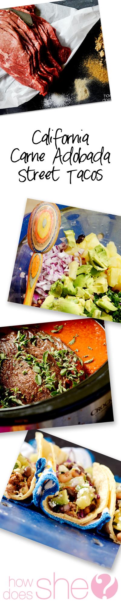 California Carne Adobada Street Tacos