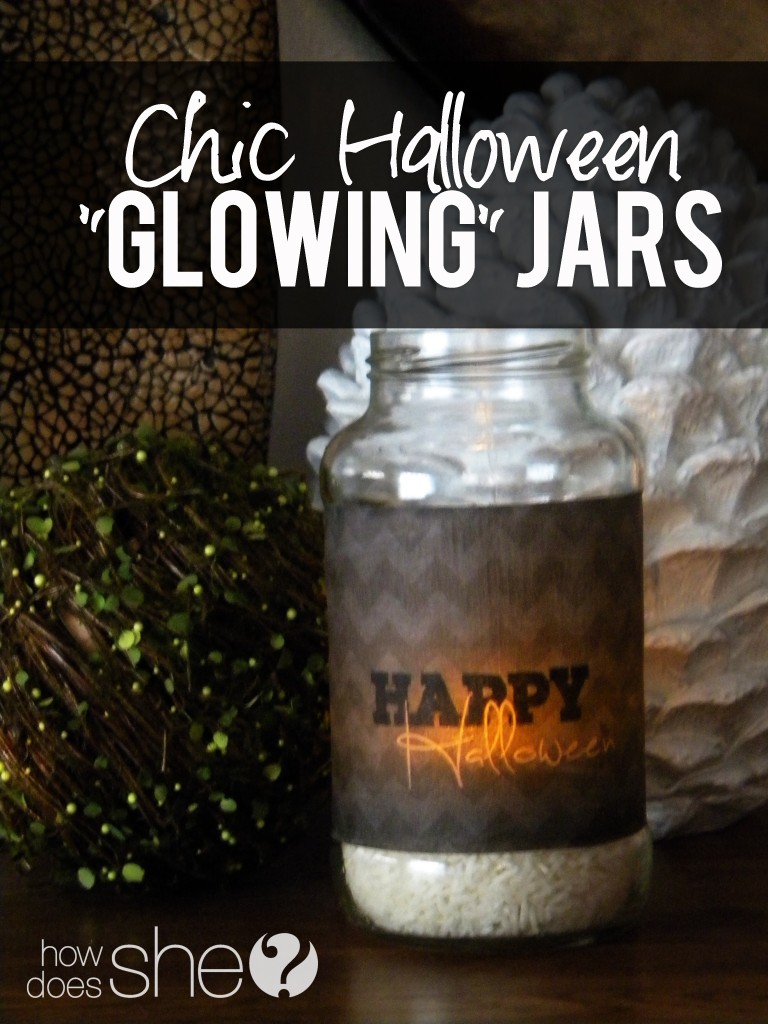 Chic Halloween Glowing Jars